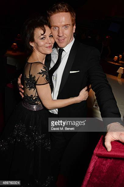 Helen McCrory and Damian Lewis attend an after party following the 60th London Evening Standard Theatre Awards at the London Palladium on November 30...