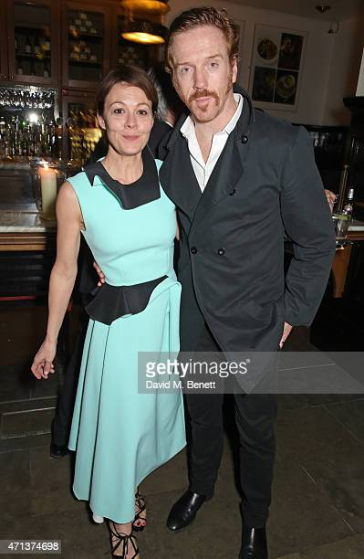Helen McCrory and Damian Lewis attend an after party following the press night performance of 'American Buffalo' at The National Cafe on April 27...