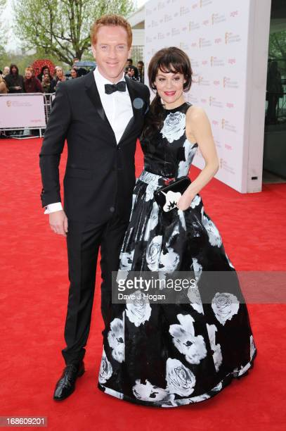 Helen McCrory and Damian Lewis attend the BAFTA TV Awards 2013 at The Royal Festival Hall on May 12 2013 in London England