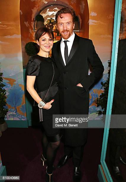 Helen McCrory and Damian Lewis attend the Charles Finch and Chanel PreBAFTA cocktail party and dinner at Annabel's on February 13 2016 in London...
