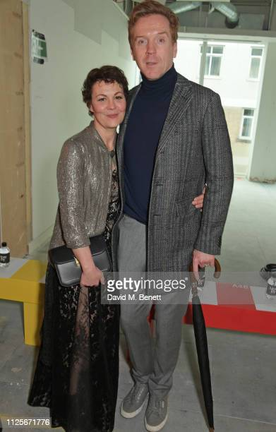 Helen McCrory and Damian Lewis attend the Christopher Kane show during London Fashion Week February 2019 on February 18 2019 in London England