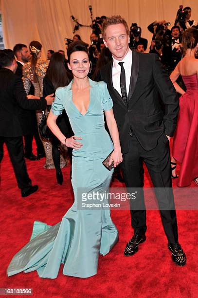 Helen McCrory and Damian Lewis attend the Costume Institute Gala for the 'PUNK Chaos to Couture' exhibition at the Metropolitan Museum of Art on May...