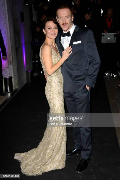 Helen McCrory and Damian Lewis attend the Evening Standard Theatre Awards at The Savoy Hotel on November 17, 2013 in London, England.
