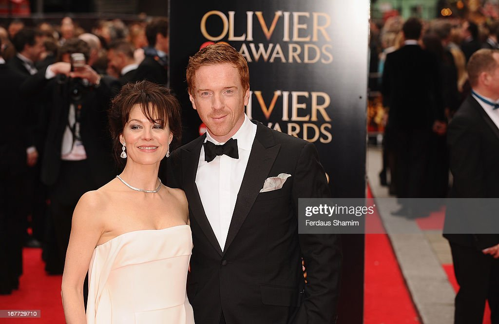 Helen McCrory and Damian Lewis attend The Laurence Olivier Awards at The Royal Opera House on April 28, 2013 sLondon, England.