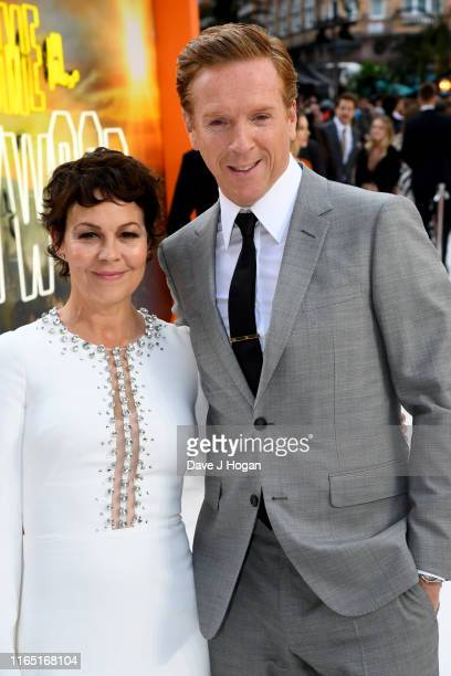 """Helen McCrory and Damian Lewis attend the """"Once Upon a Time... In Hollywood"""" UK Premiere at Odeon Luxe Leicester Square on July 30, 2019 in London,..."""