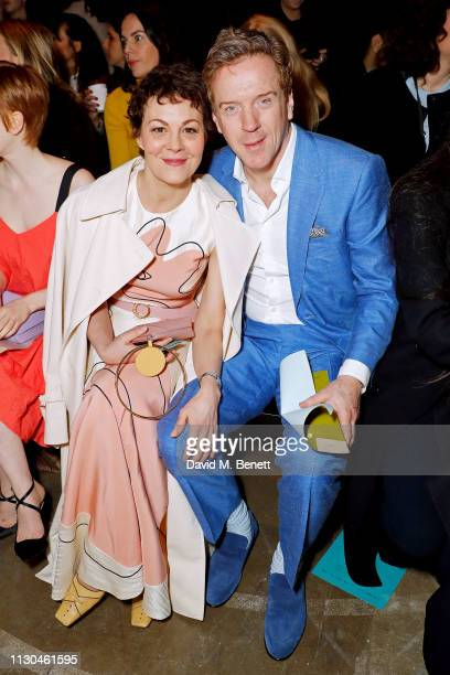 Helen McCrory and Damian Lewis attend the Roksanda show during London Fashion Week February 2019 at The Old Selfridges Hotel on February 18 2019 in...