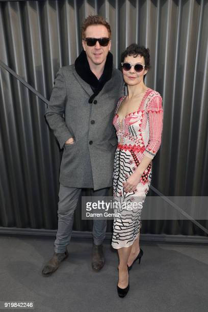 Helen McCrory and Damian Lewis attend the Temperley London show during London Fashion Week February 2018 at on February 18 2018 in London England