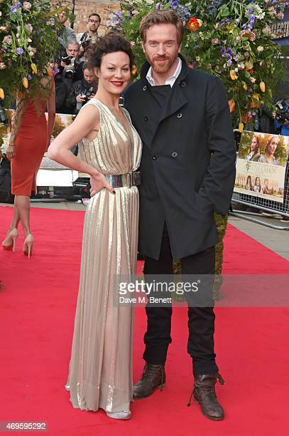 """Helen McCrory and Damian Lewis attend the UK premiere of """"A Little Chaos"""" at ODEON Kensington on April 13, 2015 in London, England."""