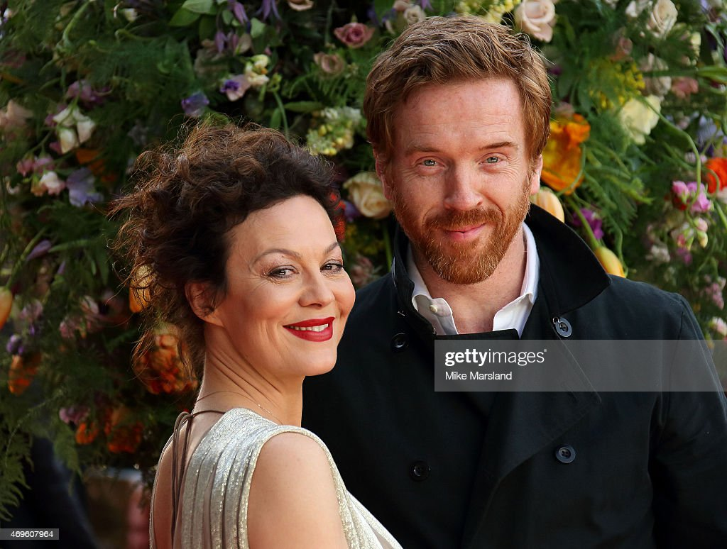 Helen McCrory and Damian Lewis attend the UK premiere of 'A Little Chaos' at ODEON Kensington on April 13, 2015 in London, England.