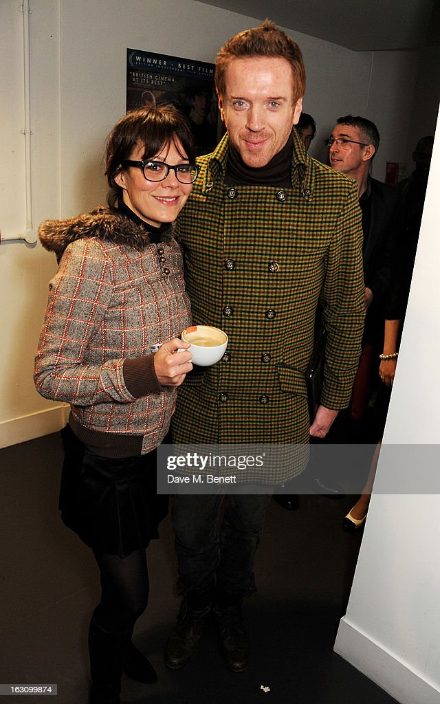 Helen McCrory (L) and Damian Lewis attend the UK premiere of 'Broken' at the Hackney Picturehouse on March 4, 2013 in London, England.