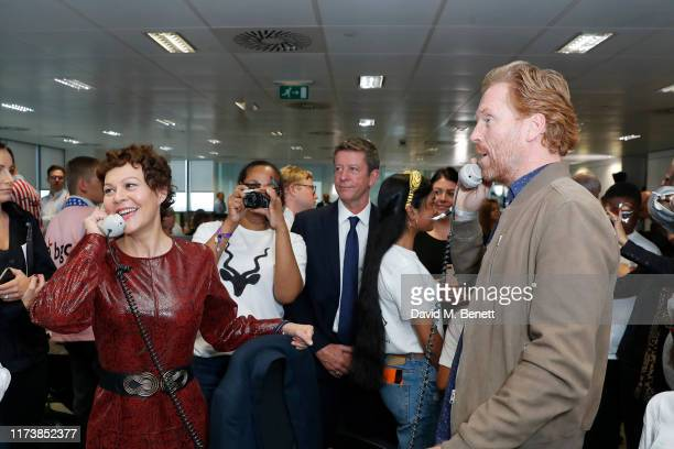 Helen McCrory and Damian Lewis representing Sir Hubert Von Herkomer Arts Foundation attends BGC Charity Day at One Churchill Place on September 11...