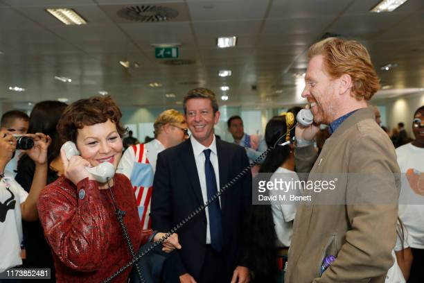 Helen McCrory and Damian Lewis representing Sir Hubert Von Herkomer Arts Foundation attend BGC Charity Day at One Churchill Place on September 11...
