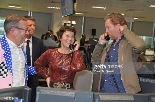 Helen McCrory and Damian Lewis representing the Sir Hubert Von Herkomer Arts Foundation attend BGC Charity Day at One Churchill Place on September 11...