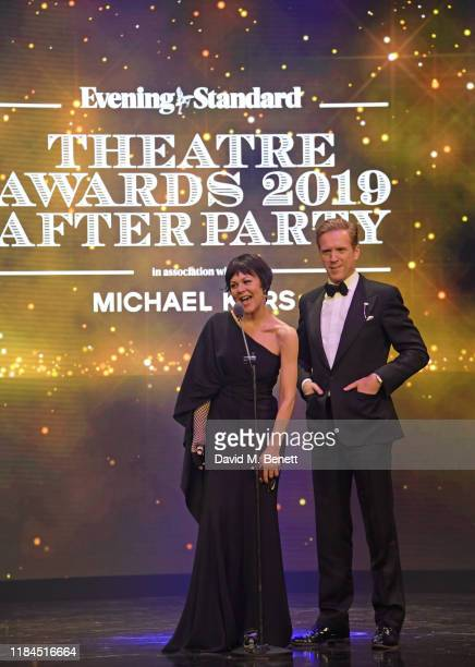 Helen McCrory and Damian Lewis speak onstage at the 65th Evening Standard Theatre Awards in association with Michael Kors at the London Coliseum on...