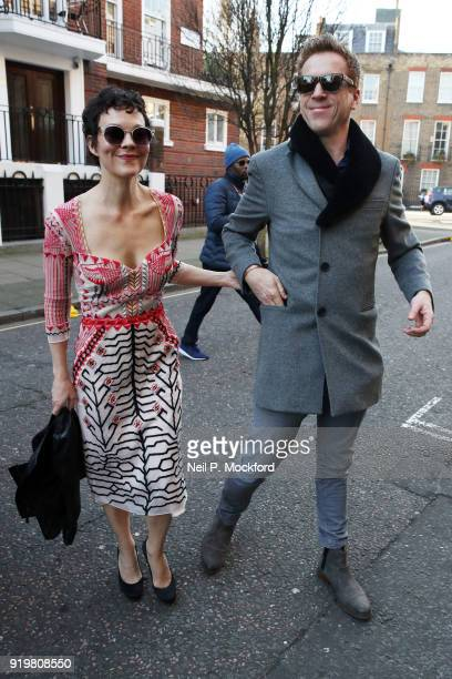 Helen McCrory and Damien Lewis seen attending Temperley at Seymour Leisure Centre during LFW February 2018 on February 18 2018 in London England