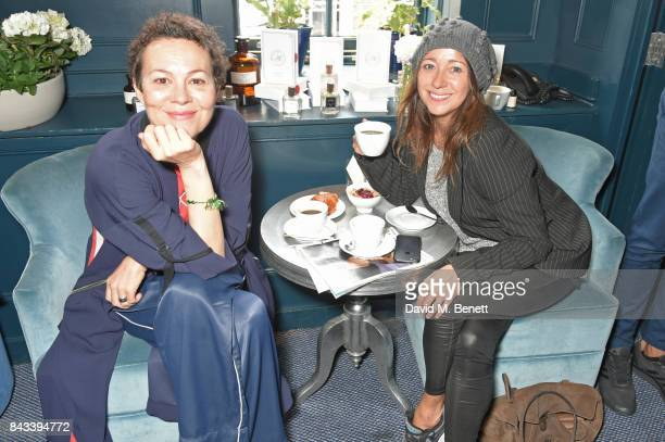 Helen McCrory and Debbi Clark attend a private breakfast hosted by Azzi Glasser to launch of new fragrance 'After Hours' created by The Perfumer's...
