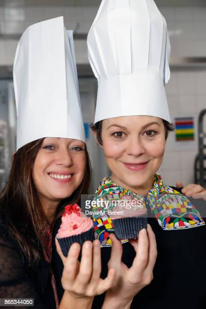 Helen McCrory and Debbi Clark Host A Master Class Chocolate Course for the Sir Hubert Von Herkomer Arts Foundation at The Savoy Hotel on October 22...