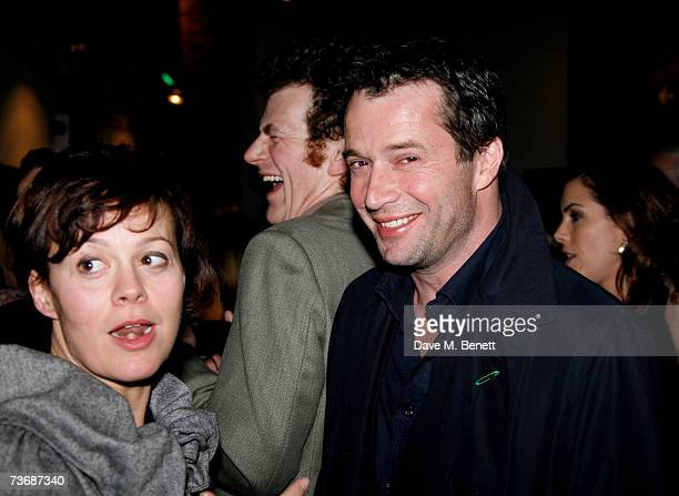Helen McCrory and James Purefoy attend the a fundraiser party for the Almeida Theatre at the Almeida Theatre on March 23 2007 in London England
