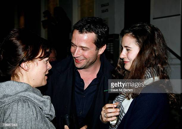 Helen McCrory and James Purefoy with partner attend the a fundraiser party for the Almeida Theatre at the Almeida Theatre on March 23 2007 in London...