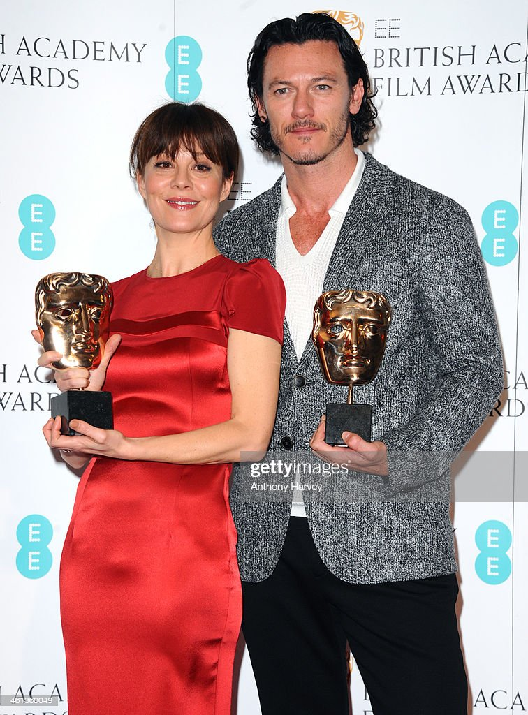 Helen McCrory and Luke Evans attend the nominations photocall for the EE British Academy Film Awards at BAFTA on January 8, 2014 in London, England.