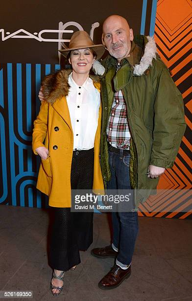 Helen McCrory and Terry Barber attend the MAC Pro to Pro Textile Party at London's Camden Roundhouse on April 29, 2016 in London, England.