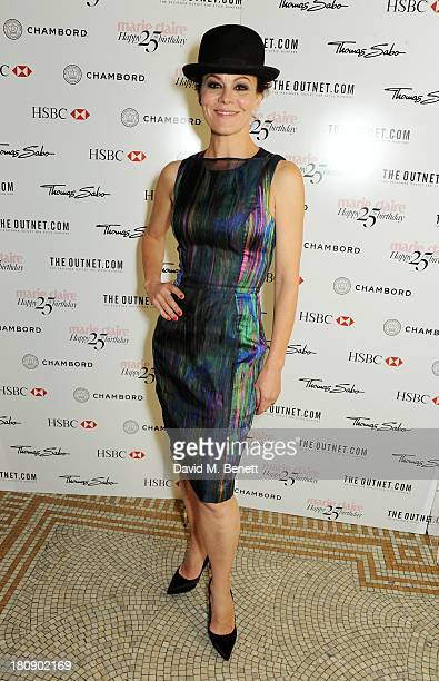 Helen McCrory arrives at the Marie Claire 25th birthday celebration featuring Icons of Our Time in association with The Outnet at the Cafe Royal...