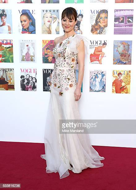 Helen McCrory arrives for the Gala to celebrate the Vogue 100 Festival Kensington Gardens on May 23 2016 in London England