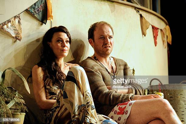 Helen McCrory as Libby and Rory Kinnear as Nick in Stephen Beresford's The Last of the Haussmans directed by Howard Davies at the National Theatre in...
