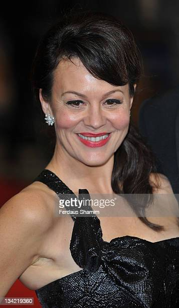 Helen McCrory attends the 3D screening of Hugo as part of the Royal Film Performance at Odeon Leicester Square on November 28, 2011 in London,...