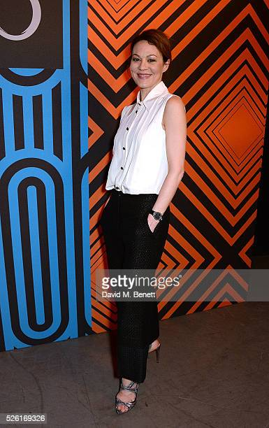 Helen McCrory attends the MAC Pro to Pro Textile Party at London's Camden Roundhouse on April 29 2016 in London England