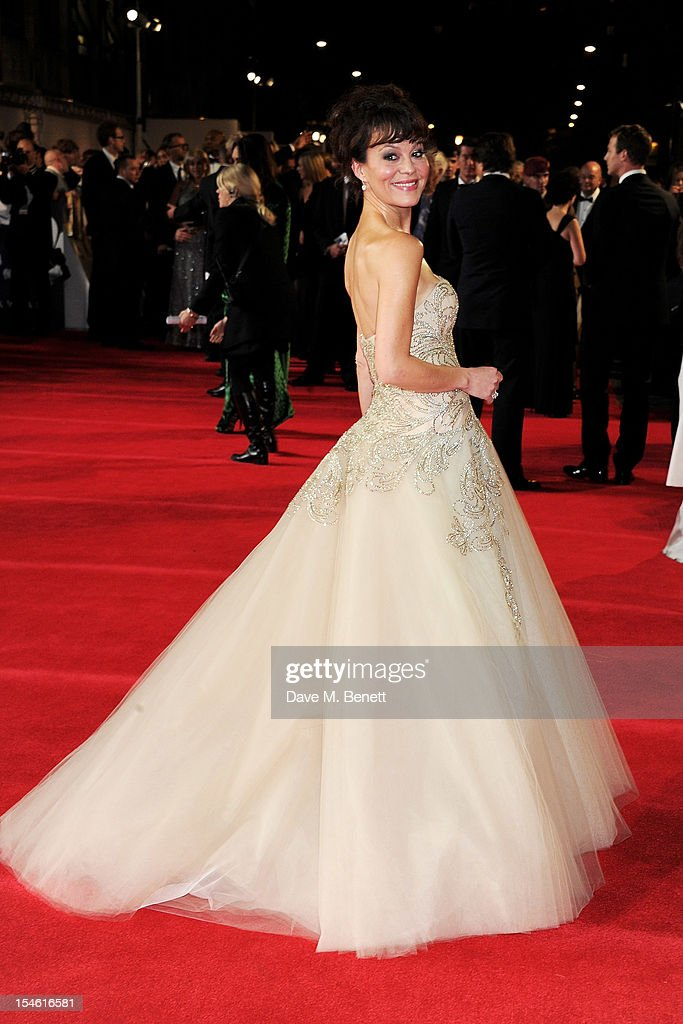 Helen McCrory attends the Royal World Premiere of 'Skyfall' at the Royal Albert Hall on October 23, 2012 in London, England.