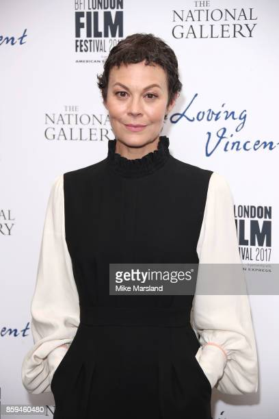 Helen McCrory attends the UK Premiere of 'Loving Vincent' during the 61st BFI London Film Festival on October 9 2017 in London England