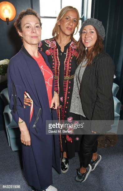 Helen McCrory Azzi Glasser and Debbi Clark attend a private breakfast hosted by Azzi Glasser to launch of new fragrance 'After Hours' created by The...