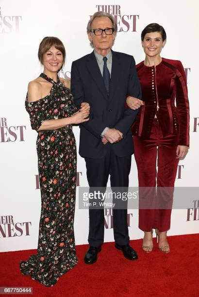 Helen McCrory Bill Nighy and Gemma Arterton attend a special presentation screening of Their Finest at BFI Southbank on April 12 2017 in London...