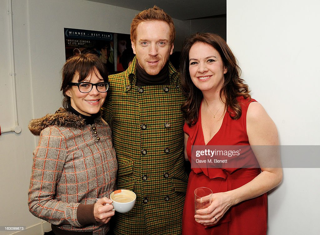 Helen McCrory, Damian Lewis and producer Dixie Linder attend the UK premiere of 'Broken' at the Hackney Picturehouse on March 4, 2013 in London, England.