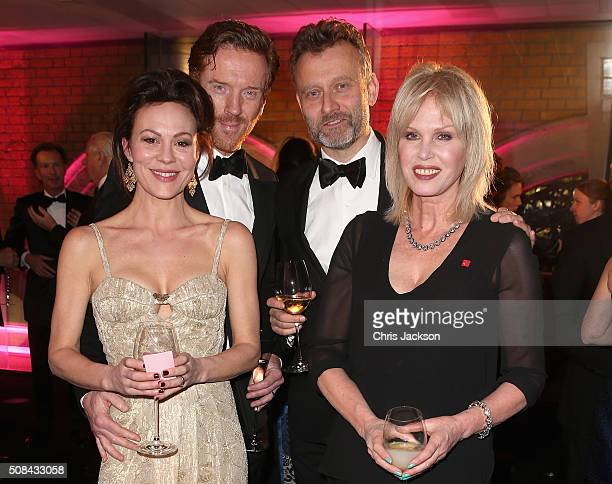 Helen McCrory, Damien Lewis, Hugh Dennis and Joanna Lumley attend a pre-dinner reception for the Prince's Trust Invest in Futures Gala Dinner at The...