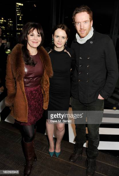 Helen McCrory InStyle editor Eilidh Macaskill and Damian Lewis attend the InStyle Best Of British Talent party in association with Lancome and Avenue...