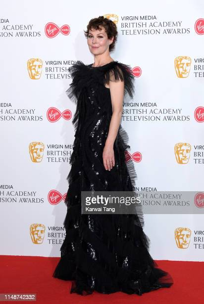 Helen McCrory poses in the Press Room at the Virgin TV BAFTA Television Award at The Royal Festival Hall on May 12, 2019 in London, England.