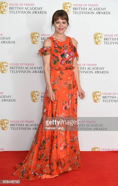 Helen McCrory poses in the winners room at the House Of Fraser British Academy Television Awards 2016 at the Royal Festival Hall on May 8 2016 in...