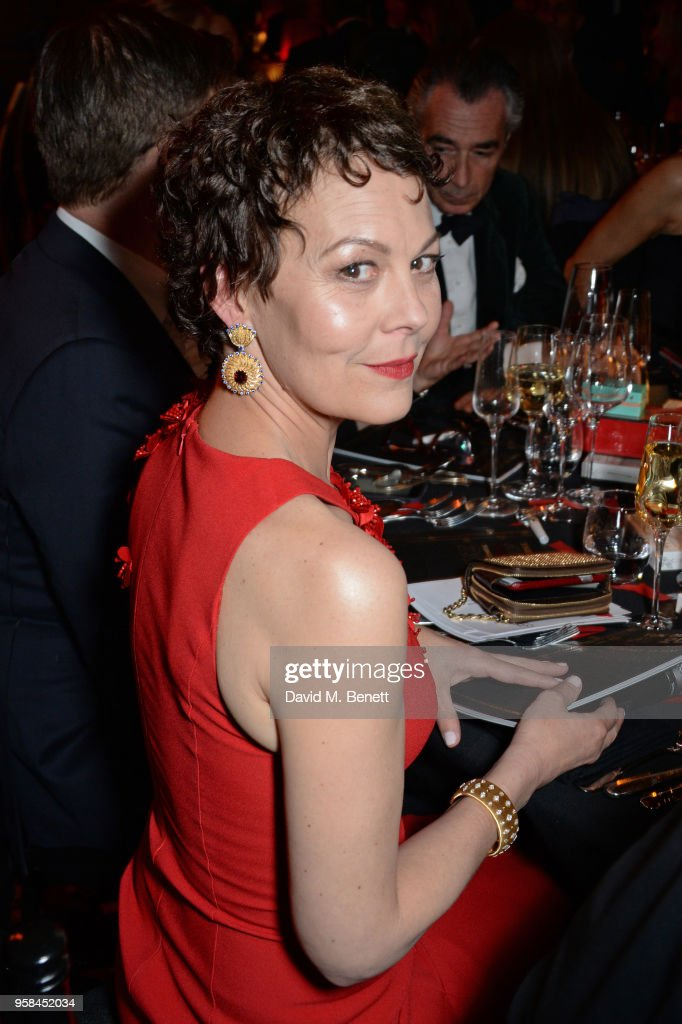 Helen McCrory, wearing Buccellati jewelry, attends The Old Vic Bicentenary Ball to celebrate the theatre's 200th birthday at The Old Vic Theatre on May 13, 2018 in London, England.