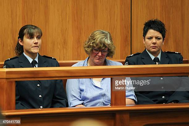 Helen Milner sits in court on February 20 2014 in Christchurch New Zealand In 2013 Helen Milner was found guilty of the murder and attempted murder...