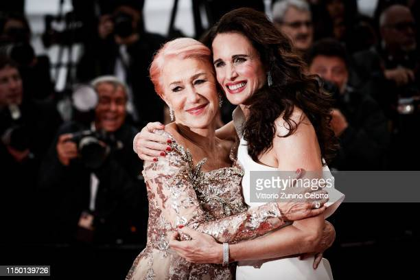 Helen Mirren and Andie MacDowell attend the screening of Les Plus Belles Annees D'Une Vie during the 72nd annual Cannes Film Festival on May 18 2019...