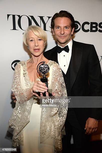 Helen Mirren and Bradley Cooper attend the 2015 Tony Awards at Radio City Music Hall on June 7 2015 in New York City