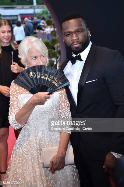 Helen Mirren and Curtis James Jackson III aka 50 Cent attend the 57th Monte Carlo TV Festival Closing Ceremony on June 20 2017 in MonteCarlo Monaco