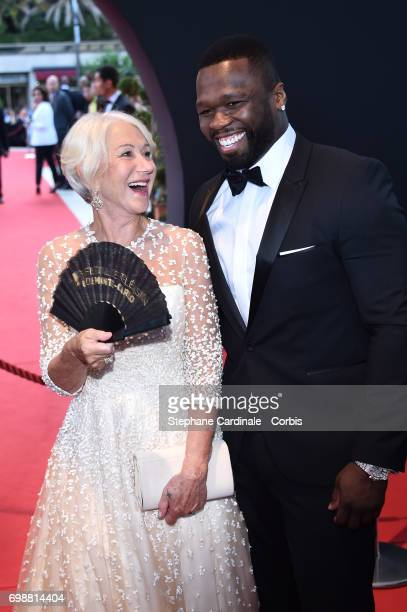 Helen Mirren and Curtis James Jackson III aka 50 Cent attend the Closing Ceremony of the 57th Monte Carlo TV Festival on June 20 2017 in MonteCarlo...