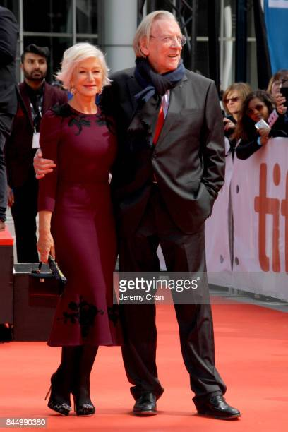 Helen Mirren and Donald Sutherland attend The Leisure Seeker premiere during the 2017 Toronto International Film Festival at Roy Thomson Hall on...