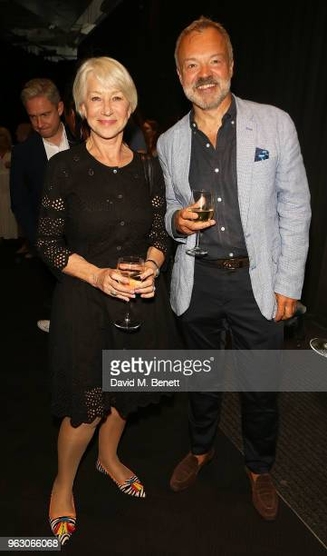 Helen Mirren and Graham Norton attend a special screening of McKellen Playing the Part at the BFI Southbank on May 27 2018 in London England