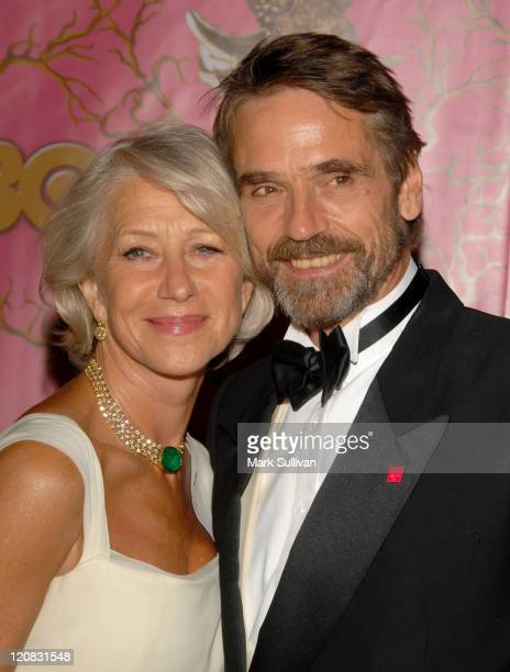 Helen Mirren and Jeremy Irons during 58th Annual Primetime Emmy Awards HBO After Party Arrivals at Pcific Design Center in West Hollywood California...