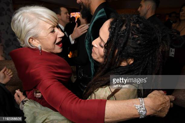 Helen Mirren and Lisa Bonet at HBO's Official 2020 Golden Globe Awards After Party on January 05 2020 in Los Angeles California