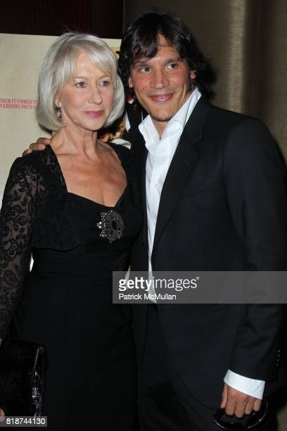 Helen Mirren and Sergio PerisMencheta attend E1 Entertainment Presents the New York Premiere of LOVE RANCH at Dolby Screening Room on June 29 2010 in...
